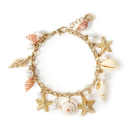 Claire'S Accessories Girls Seashell Charm Bracelet