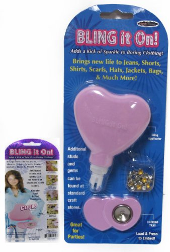 Bling it On - Rhinestones and Studs Application Bedazzler Tool Kit - Complete Bedazzling Set