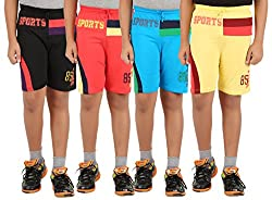 Zippy Boy's Multicolor Shorts (Pack of 4)