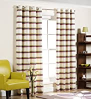 Rebecca Stripe Eyelet Curtains