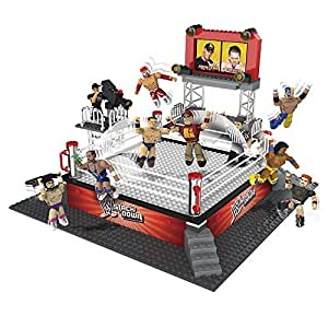 WWE Stackdown Battle Brawlin Ring Set with 3 Figures