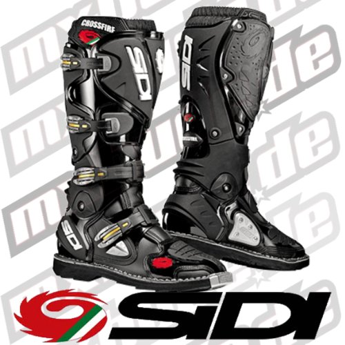 MFIRE NENE - Sidi Crossfire Motocross Boots 42 Black (UK 8)