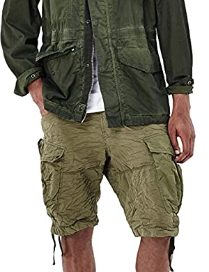 G-Star Men's Rovic Loose Men's Bermuda Shorts In Khaki 100% Cotton