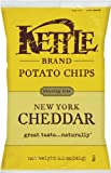Kettle Brand Potato Chips, New York Cheddar, 8.5-Ounce Bags (Pack of 12)