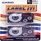 Casio Genuine 2/Pack 9mm Black on White Label Tape