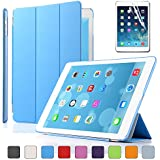 Besdata Magnetic Smart Cover Stand + Hard Back Case Free Stylus For Apple iPad Air - Supreme Quality - Protects the Device - UK Stock - Blue - PT4102