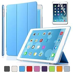 Besdata® Apple iPad Smart Housse de protection en polyuréthane avec Coque arrière pour IPad Air, Bleu - PT4102