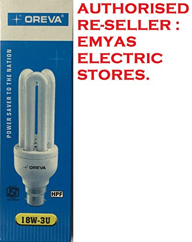 Oreva 18W 3U B22 CFL Bulb (Cool Day Light)