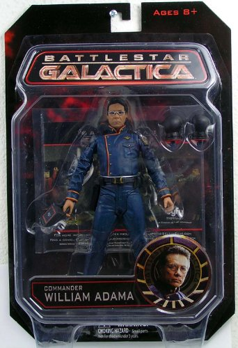 Picture of Diamond Select Battlestar Galactica Exclusive Commander William Adama figure (B003DS2P5E) (Diamond Select Action Figures)