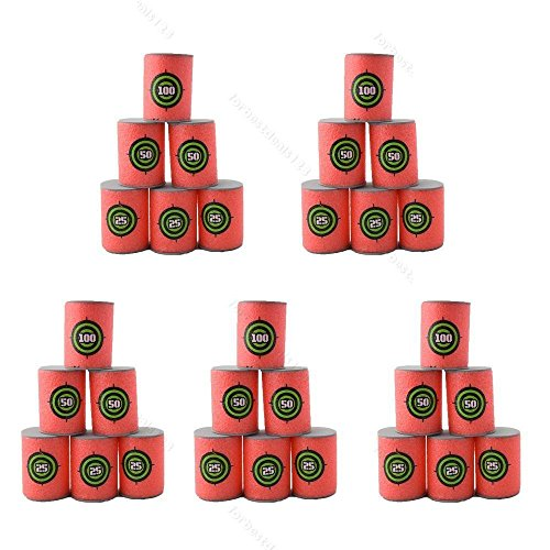 30pcs Soft EVA Bullet Target Dart Foam Toy Gun Shoot Dart for NERF N-Strike Blaster Kids Toy, 6Pcs/Set, 5-Set (Kids Gun Target compare prices)