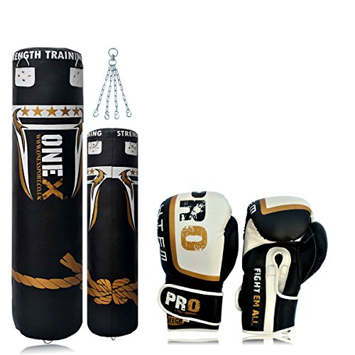 onex-synthetic-leather-5ft-punch-bags-boxing-gloves-12oz-chain-boxing-training-focus-punch-bag