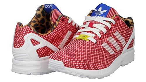 Women's Adidas ZX Flux Weave Shoes White/Berry M21366 (8.5) (Zx 8000 Weave compare prices)