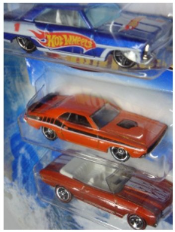 """Hot Wheels Detailed Diecast '70 Chevelle Red Line Convertible - """"71 Dodge Challenger - '66 Nova Scale 1:64"""