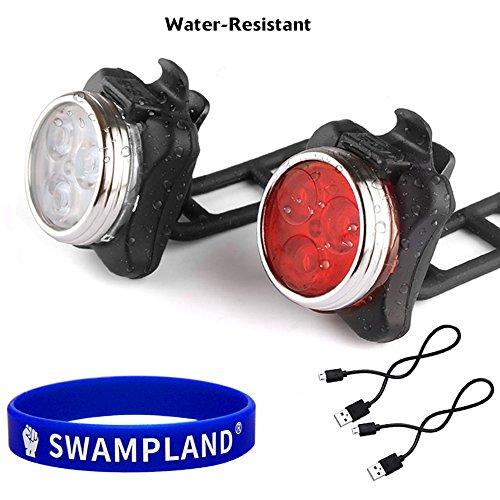 Wiederaufladbare-LED-Fahrradlampe-LED-Frontlicht-und-Rcklicht-Fr-Radfahren2-USB-Kabel-4-Licht-ModiWasserdicht-IPX4
