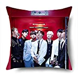 Fanstown BTS KPOP in the mood for love pillowcase Soft velvet Core included with lomo cards
