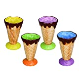 Kivvo Personalized Ice Cream Cup Ceramic Party Dessert Bowls Triffle Dishes Pack of 4