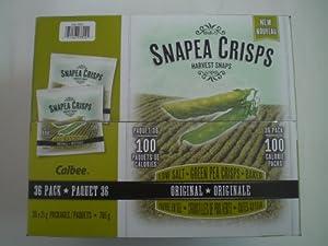 Calbee Baked Low Salt Snapea Crisps Original 21g (36 Pack)