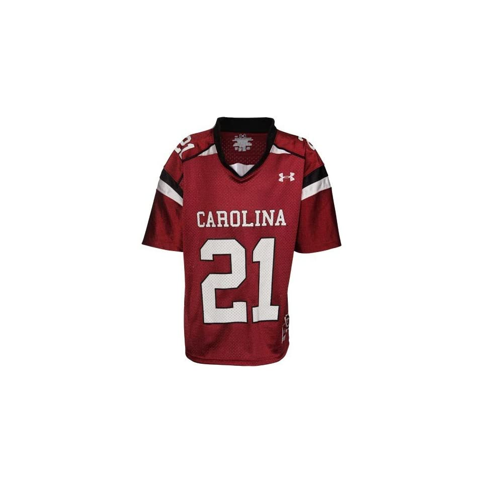 Under Armour South Carolina Gamecocks Youth #21 Replica Football Jersey   Garnet
