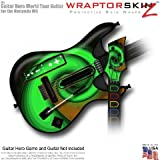 Alecias Swirl 01 Green Skin fits Band Hero, Guitar Hero 5 & World Tour Guitars for Nintendo Wii (GUITAR NOT INCLUDED) by WraptorSkinz TM – (OEM Packaging)