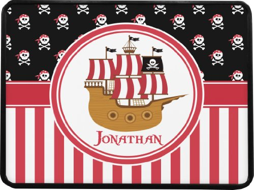 Pirate & Stripes Rectangular Trailer Hitch Cover (Personalized) - Class 1& 2 Hitches