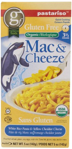Pastariso Organic Quick-Cooking White Rice Mac and Yellow Cheeze, Orca, 5-Ounce (Organic Dinner Sides compare prices)