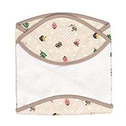 Snow Flower Friend Lagging receiving-blankets Baby Swaddle Beige