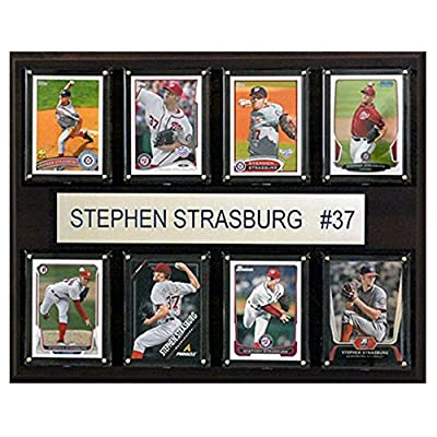 C and I Collectables MLB 15W x 12H in. Stephen Strasburg Washington Nationals 8 Card Plaque