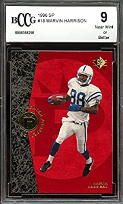 1996 sp #18 MARVIN HARRISON indianapolis colts rookie card BGS BCCG 9 Graded Card