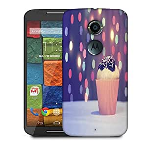 Snoogg Vintage Purple Cupcake Designer Protective Phone Back Case Cover For Moto X 2nd Generation