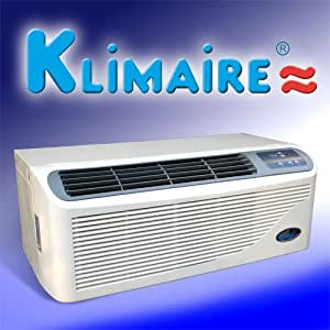 Klimaire 15,500 Btu Ptac Packaged Terminal Air Conditioner - R410a Refrigerant - With 3kw Electric Heater and Electronic Push Button Control, Complete with Wall Sleeve, Back Grill, Power Cord w/ Breaker, Wired LCD Wall Thermostat and Wireless Remote Control