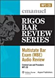 img - for MBE Audio: Criminal Law (Rigos Bar Review Series: Multistate Bar Exam Audio Review (Mbe)) book / textbook / text book
