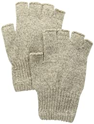 Fox River Men\'s Mid Weight Fingerless Ragg Glove, Brown Tweed, Small