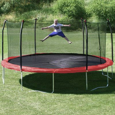 17-x-15-Oval-Trampoline-with-Safety-Enclosure-Pad-Color-Red