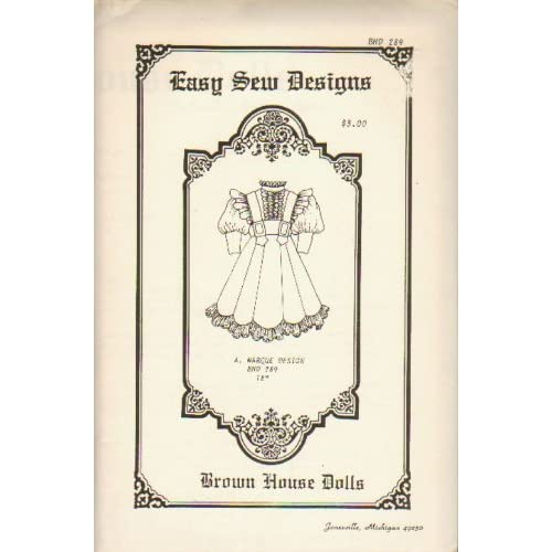Brown House Dolls (Antique & Reproduction Doll Clothes Pattern) A. Marque Design BHD 289, 18