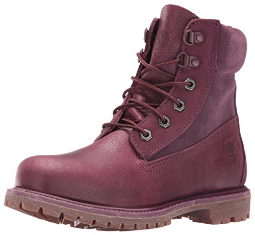 Timberland Women's 6 Inch Premium Double D-Ring WP Boot, Dark Port Waterbuck, 6.5 M US (Customized Timberland Boots compare prices)