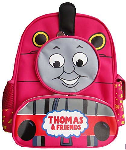 Fashion High Quality Baby Kid Toddler Child Infant Nursery Boy Girl Thomas Friends The Tank Train Cartoon Canvas Travel Backpack Shoulder Book School Bag Rucksack Schoolbag Xmas Gift (Red) - 1