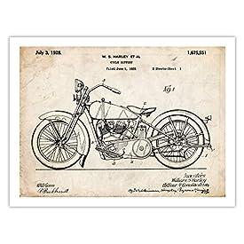 Vintage Motorcycle Poster Art