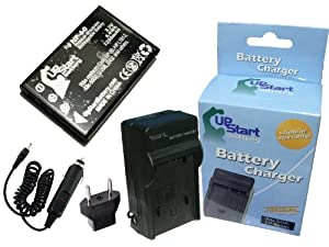 Toshiba PDR-5300 Battery and Charger with Car Plug and EU Adapter - Replacement for Toshiba PDR-BT3 Digital Camera Batteries and Chargers (1200mAh, 3.7V, Lithium-Ion)