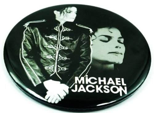 "Michael Jackson (13) Awesome 3-In-1 Features Jumbo 3.75"" Pin Stand Button Badge"