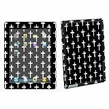 Apple iPad 3 – The New ipad 3rd Gen Tablet Decal Sticker Vinyl Skin By SkinGuardz Black Cross
