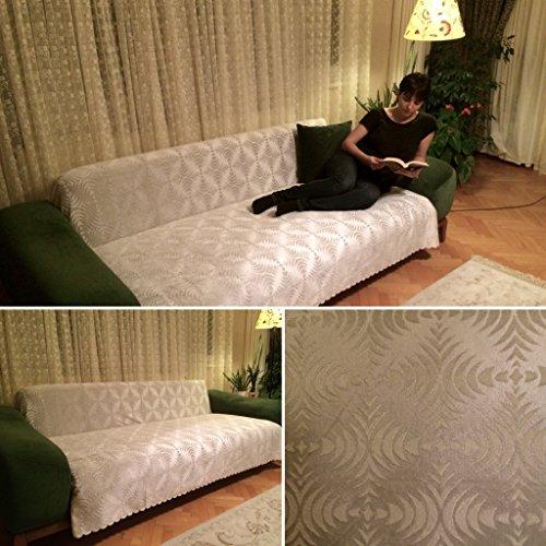 Authentic Turkish Sofa Futon Couch Cover (Palm) (Ecru)