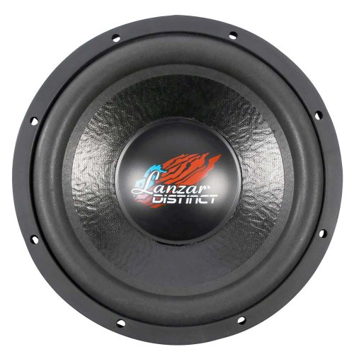 Lanzar Dct12D Distinct Series 1600-Watt 12-Inch High Power Dual 4-Ohm Voice Coil Subwoofer