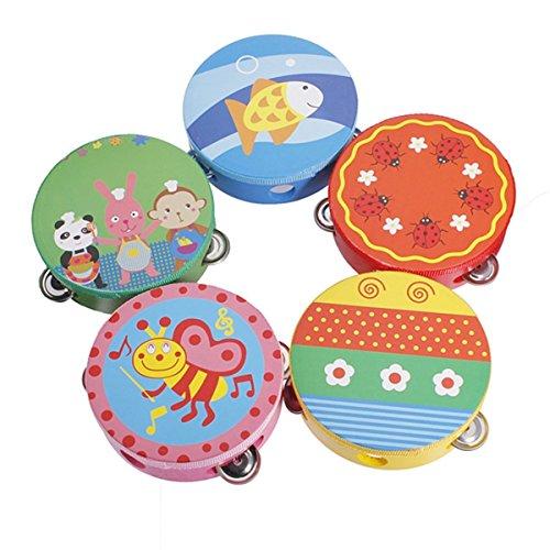 1pcs-tambourin-tambour-avec-cloche-jingles-metal-motif-bande-dessinee-coloree-percussion-en-bois-jou
