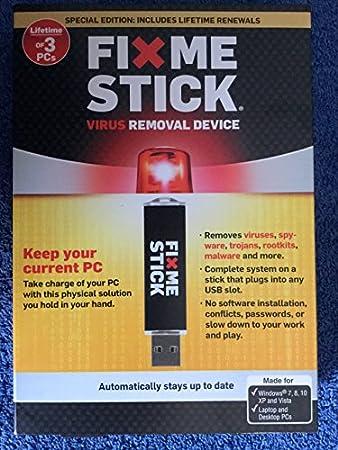 FixMeStick - Virus Removal Device - LFT 3 PCs