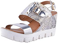 Deccan Shoes Girls Multi-Coloured Satin Sandals (35 EU)