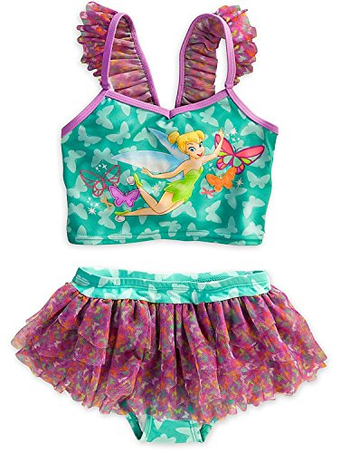 Disney Store Tinkerbell Tinker Bell Swimsuit: Deluxe 2-Piece L Large 9 - 10 disney fairies мини кукла pirate fairy tinker bell