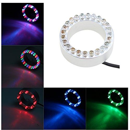 AGPtek® 24 LED Multi-Color Red/Blue/Green Submersible LED Lights, Underwater Pond Lighting, Fountain Lighting, for Garden, Landscape, Statuary