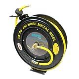 Capri Tools Auto-Rewind Retractable 50-Ft Auto-Rewind Air Hose Reel with 3/8-Inch Rubber Hose ~ Capri Tools