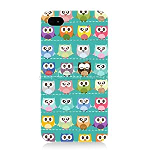 Head Case Designs Kawaii Green Assorted Owls Back Case for Apple iPhone 4 4S