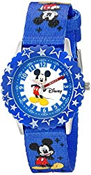 Disney Kids W002481 Mickey Mouse Time Teacher Watch with Blue Band